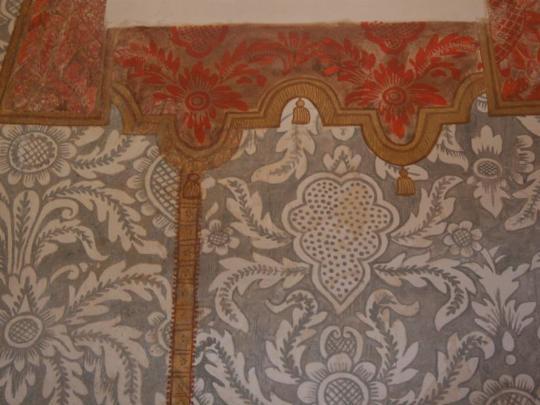 Pintura na parede da capela da Igreja do Bonfim